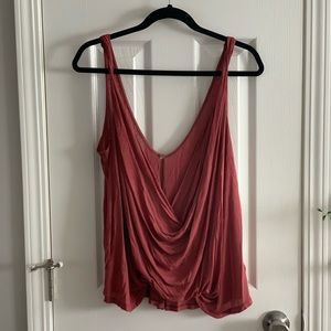 Free People plunging red tank top